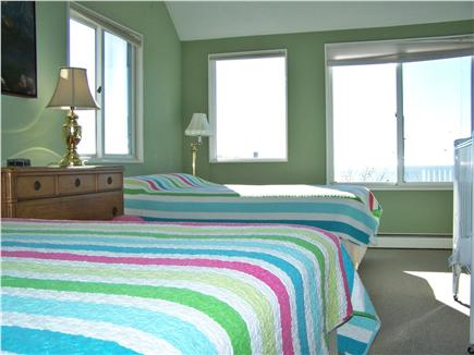 North Truro Cape Cod vacation rental - Master Bedroom 1, on east end, two queen beds, collapsible crib