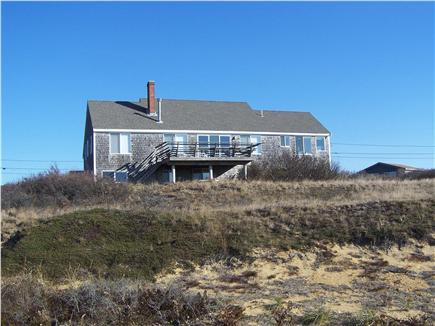 North Truro Cape Cod vacation rental - House set on dune above bluff