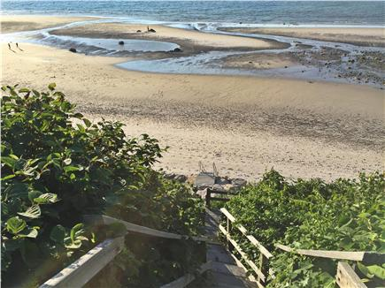 Dennis Cape Cod vacation rental - Private stairs to the beach