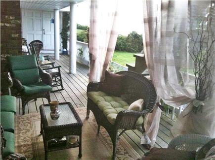 Dennis Cape Cod vacation rental - Covered outdoor lounge with silk screens