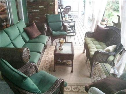 Dennis Cape Cod vacation rental - Outdoor covered lounge