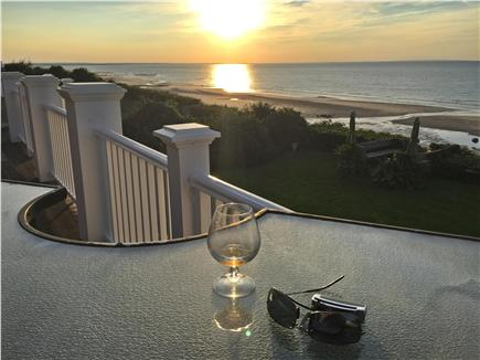 Dennis Cape Cod vacation rental - Outdoor bar at sunset