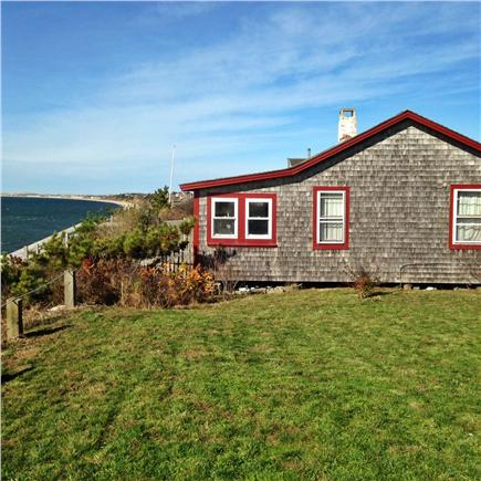 North Truro Cape Cod vacation rental - Antique cottage and deck on the edge of dramatic bluff