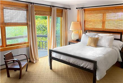 Provincetown Cape Cod vacation rental - Guest Room #2- Queen size bed, private deck, and Cable TV.