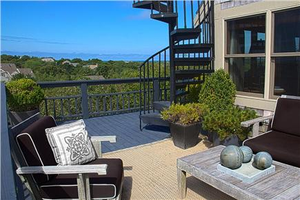 Provincetown Cape Cod vacation rental - Sitting Area on Main Deck - Relax and enjoy the views.