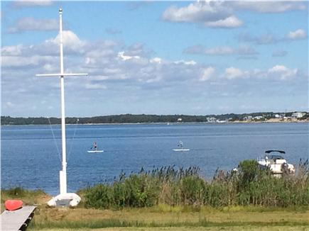 Bourne, Pocasset Cape Cod vacation rental - Enjoy your coffee & watch the boats from the large deck, CC canal