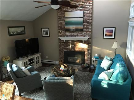 Bourne, Pocasset Cape Cod vacation rental - Ocean view LR w/big flatscreen tv/cable/wifi