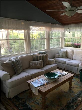 Bourne, Pocasset Cape Cod vacation rental - Spacious light-filled sunroom for relaxing