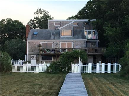 Bourne, Pocasset Cape Cod vacation rental - View of house from beach/boardwalk