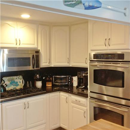 Bourne, Pocasset Cape Cod vacation rental - Chef's kitchen with double ovens, gas/elec cooktop, butcher block