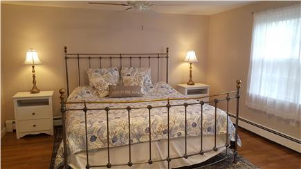 South Harwich Cape Cod vacation rental - Master bedroom with king bed is light and airy
