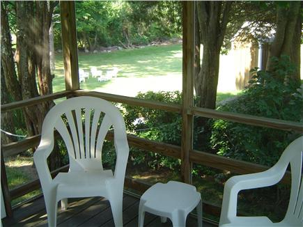 Brewster Cape Cod vacation rental - Screened porch is cool and relaxing
