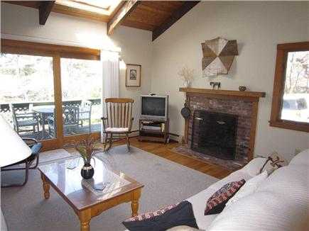 Brewster Cape Cod vacation rental - The upstairs living room space, with lots of original art