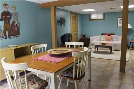 Brewster Cape Cod vacation rental - The downstairs living room has a table for games or eating