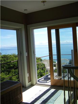 Truro Cape Cod vacation rental - Living room sliders, east and south