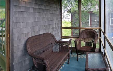 Truro Cape Cod vacation rental - Screened-in porch with wicker set