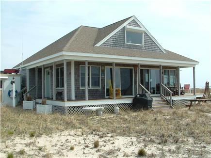 Truro, Shore Road Route 6A North Trur Cape Cod vacation rental - View of house overlooking the water
