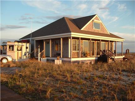 Truro, Shore Road Route 6A North Trur Cape Cod vacation rental - Another  view with sun shining on the house