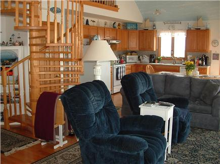 Truro, Shore Road Route 6A North Trur Cape Cod vacation rental - Living room from front of the house