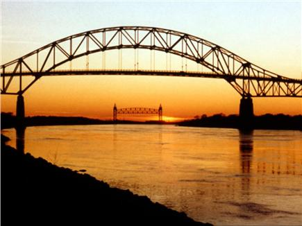 Sandwich Cape Cod vacation rental - Sagamore Bridge From the bike path on the Cape Cod Canal