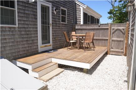 North Eastham Cape Cod vacation rental - Private deck in back yard