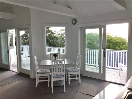 Provincetown Cape Cod vacation rental - Wall of glass doors leads to deck, overlooks  PTown Harbor.