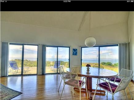 Truro Cape Cod vacation rental - Dine inside with great views or eat casually at the deck table!