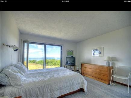 Truro Cape Cod vacation rental - Master bedroom has sliders to deck and adjoining private bath