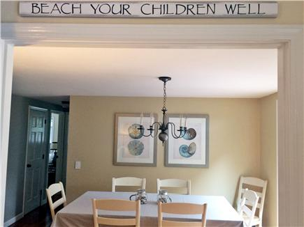 Dennis Cape Cod vacation rental - Spacious dining area that opens to the deck