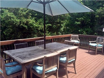 Dennis Cape Cod vacation rental - Large deck with teak furniture