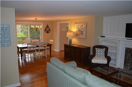 Dennis Cape Cod vacation rental - View of the open living/dining area