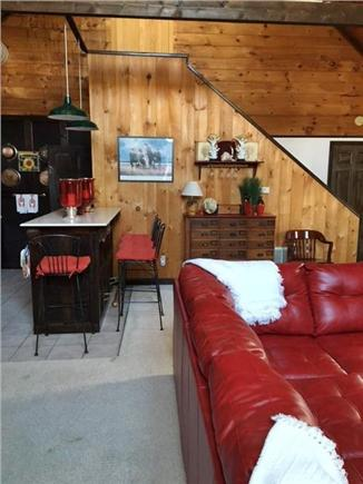 Harwich Port Cape Cod vacation rental - Stairway to 2nd Floor Master Bedroom Suite. 1/2 bath under stairs