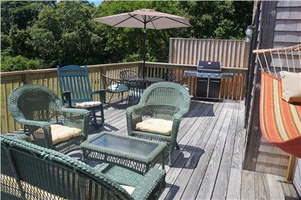 Eastham Cape Cod vacation rental - Relax in the hammock or grill your dinner & eat on the main deck