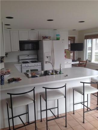 Harwich Port Cape Cod vacation rental - Modern kitchen with breakfast bar