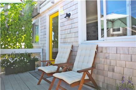 Provincetown, west end Cape Cod vacation rental - Back deck and entrance