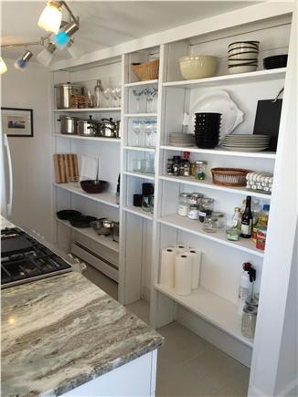 Provincetown, west end Cape Cod vacation rental - Cottage style shelves