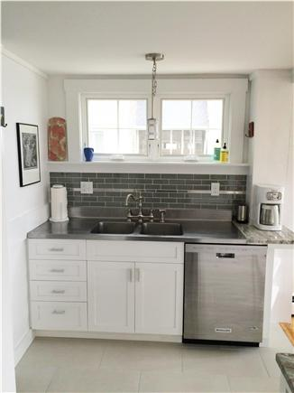 Provincetown, west end Cape Cod vacation rental - Vintage sink top, new cabinets and dishwasher