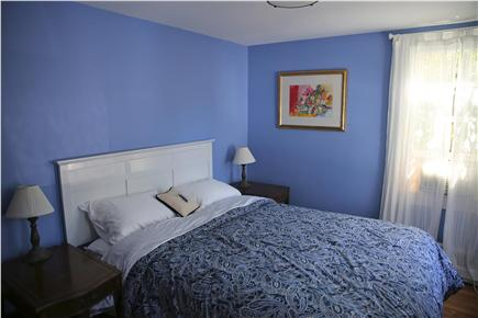 Provincetown, west end Cape Cod vacation rental - Blue bedroom with queen bed