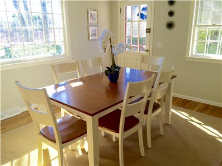 South Yarmouth Cape Cod vacation rental - Dining room overlooking the private back yard and marsh