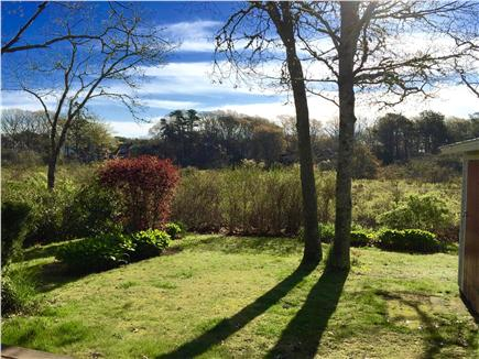 South Yarmouth Cape Cod vacation rental - Private back yard overlooking the marsh with abundant wildlife