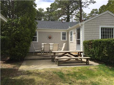 South Yarmouth Cape Cod vacation rental - Plenty of seating in patio area.  Outdoor shower.