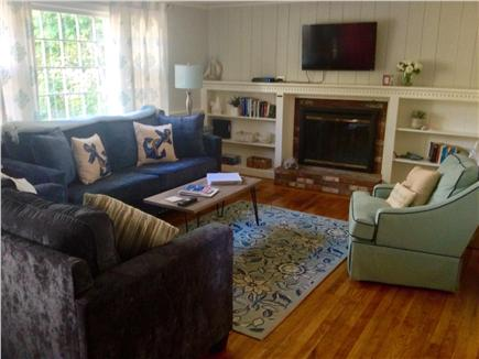 South Yarmouth Cape Cod vacation rental - Spacious living room with plenty of seating and a queen sofa bed