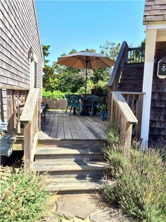 Eastham Cape Cod vacation rental - Front stairs to deck.