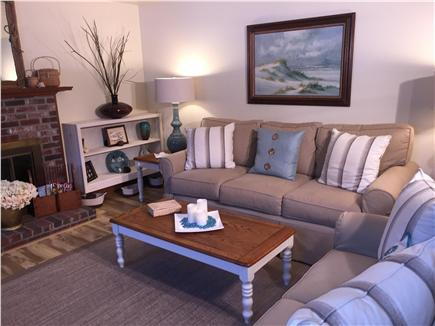 Chatham Cape Cod vacation rental - Living Room-Queen Sofa/Sleeper, love seat, TV and board games.