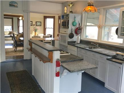 Barnstable Cape Cod vacation rental - Kitchen with open concept to dining and living rooms