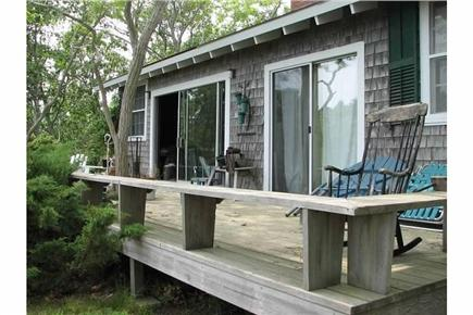 Truro Cape Cod vacation rental - The back porch, which offers views of the Atlantic....