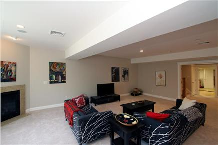 Chatham Cape Cod vacation rental - Bright and Spacious Family Room with Fireplace & TV (Lower Level)