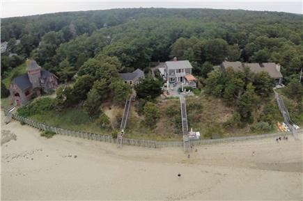 Wellfleet Cape Cod vacation rental - Aerial View House and Mayo Beach