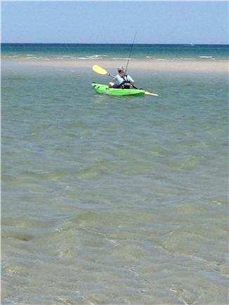 Dennis, Mayflower Beach   Cape Cod vacation rental - Kayaking from the beach especially Spring & Fall
