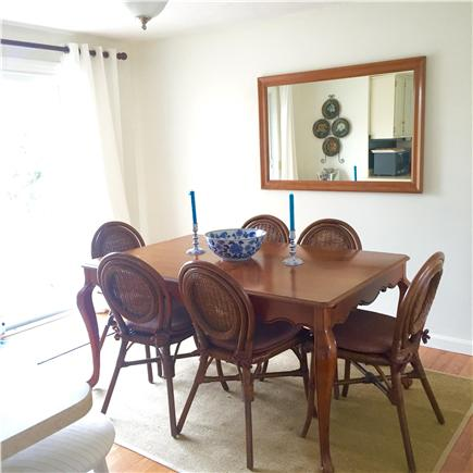 Harwich Port Cape Cod vacation rental - Dining room with sliders to the outdoor deck.